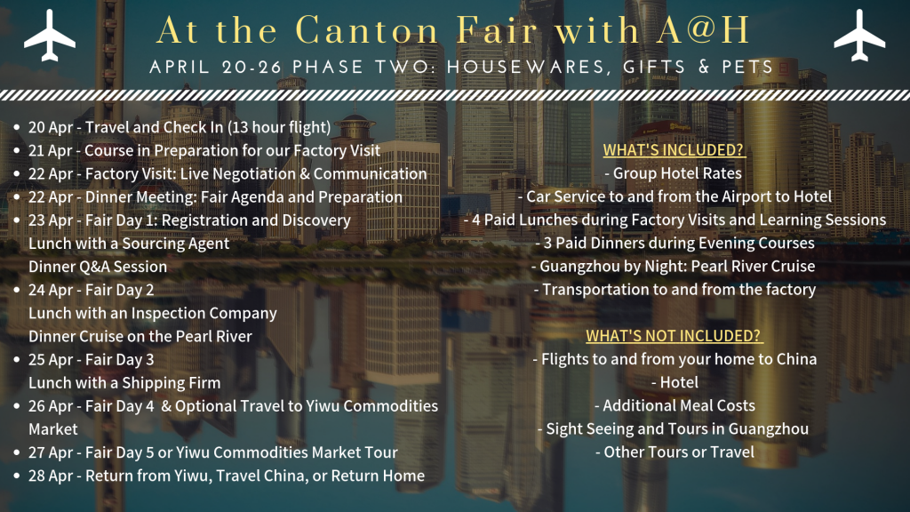 Canton Fair Phase Two 2019 with Amazing at Home