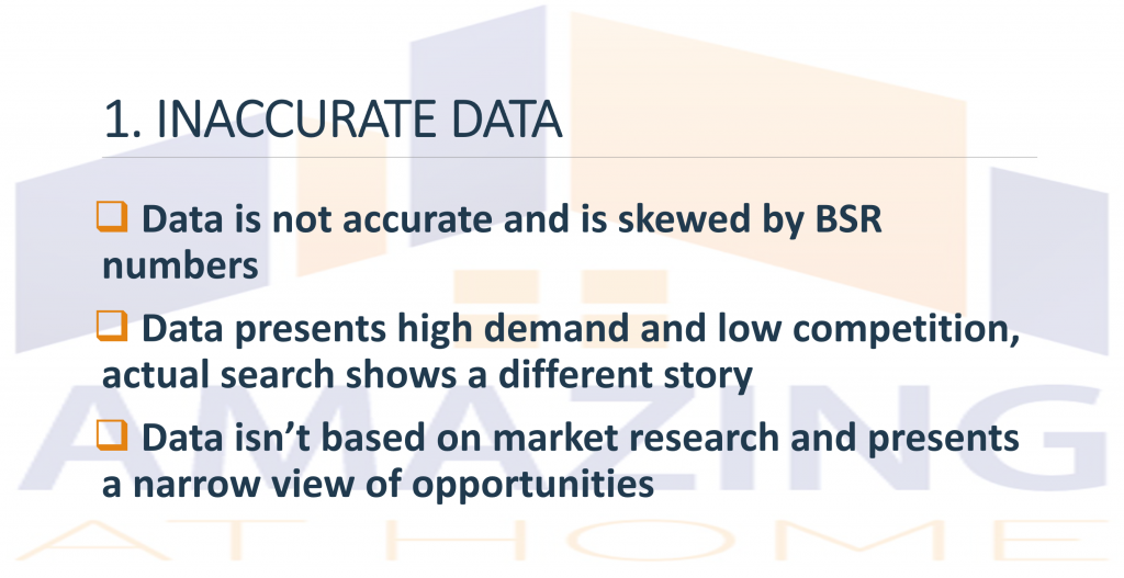 Product Research Software presents inaccurate data