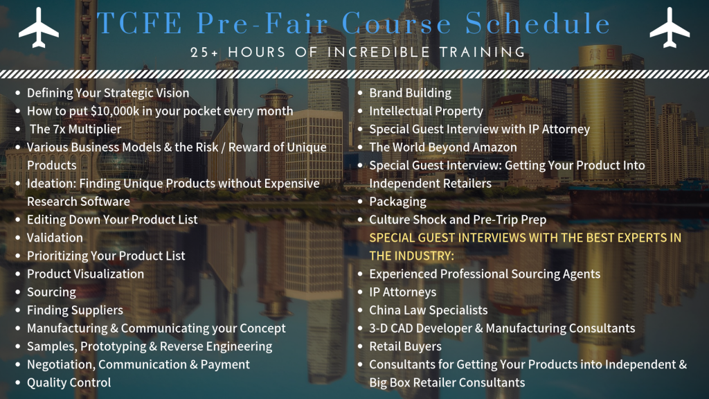 Courses offered before attending the Canton Fair