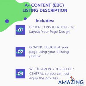 Amazon A+ Content Enhanced Brand Content Listing Description