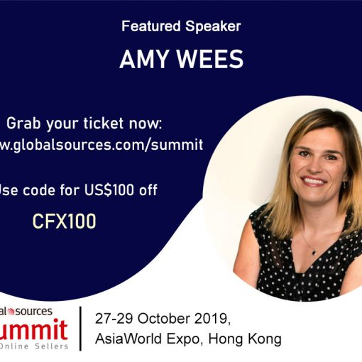 Amy Wees global sources summit at the AsiaWorld Expo Hong Kong