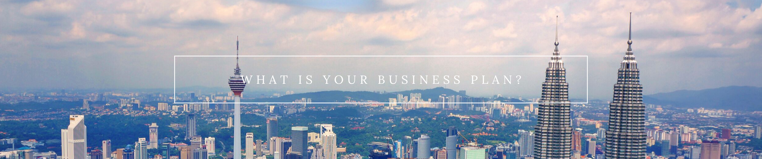 what is your business plan banner
