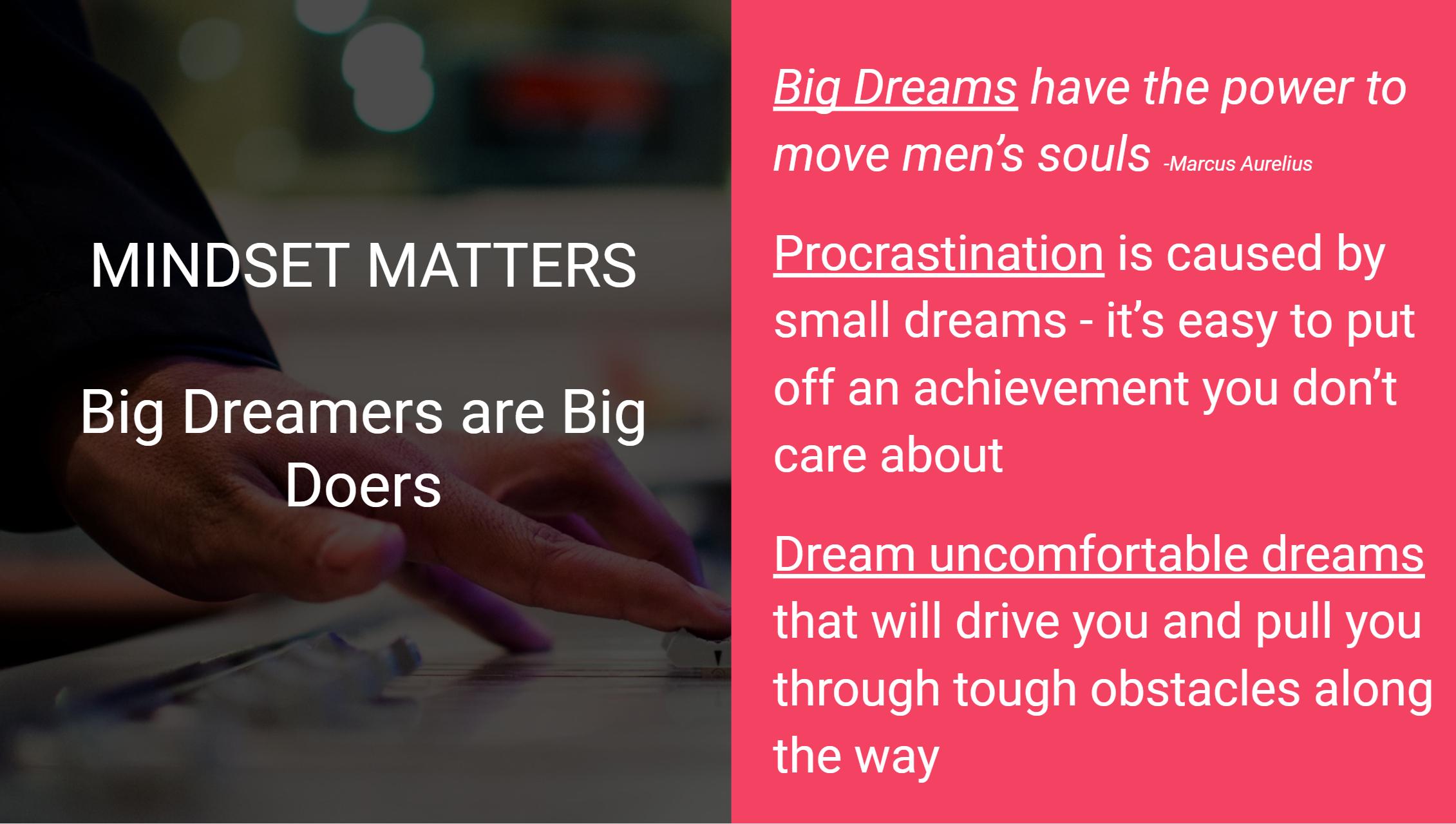 Entrepreneur Mindset Matters