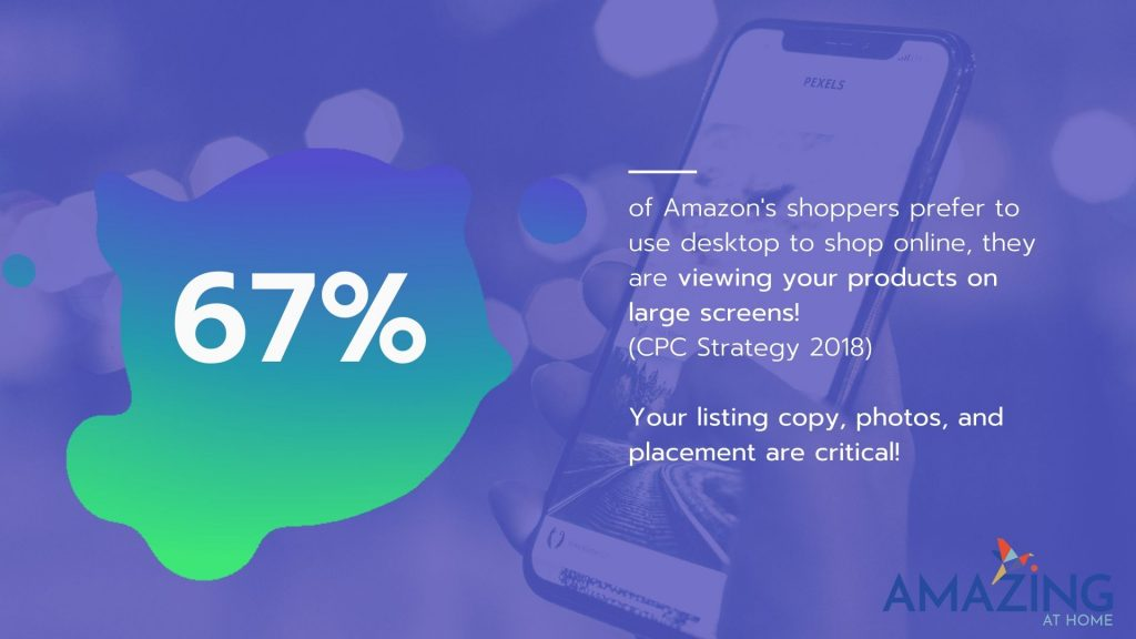 67 percent of Amazon customers shop on desktop and not on mobile