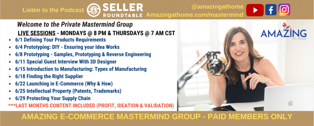 Amazing at Home Mastermind June Schedule